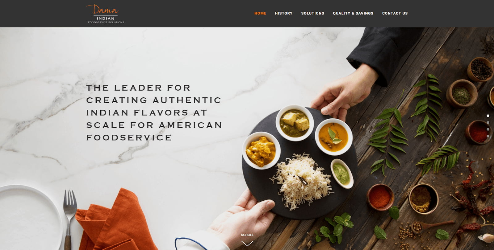 Website Design for Indian Food Service by The Coder