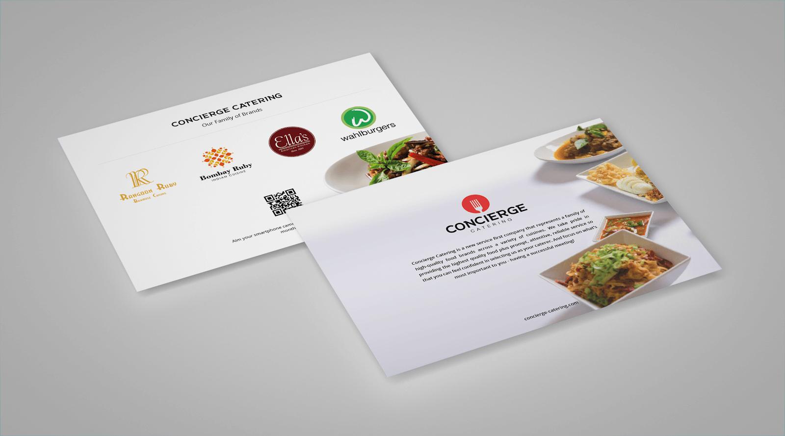 Concierge catering brochures