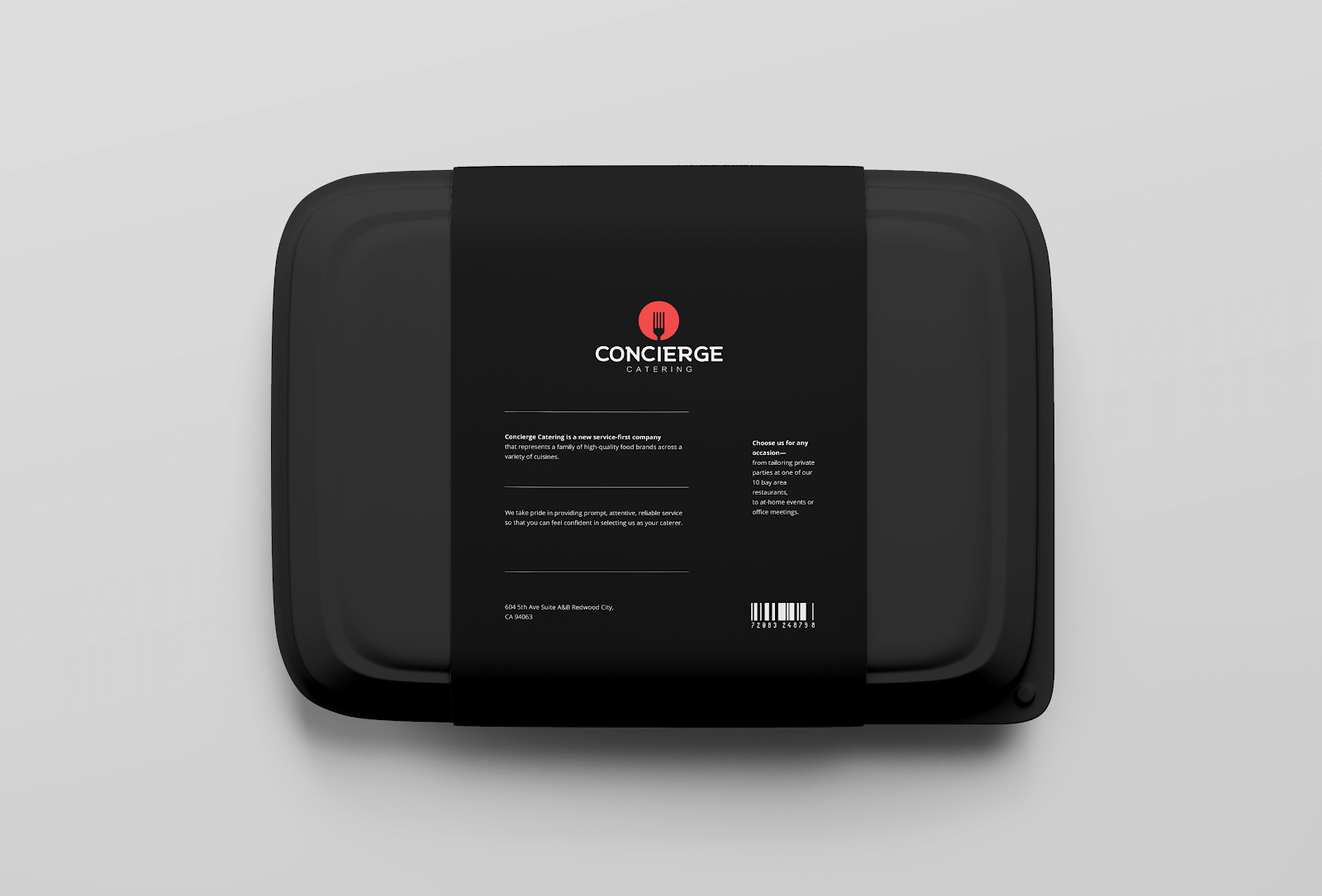 Concierge catering package design example