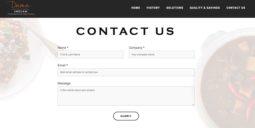 Restaurant website design - contact form